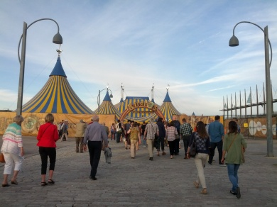 Cirque du Soleil! My only photo, was far too distracted to take any inside.