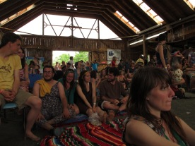 Sunday's crowd, my sunburnt face