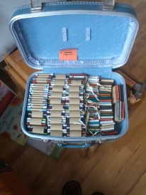 Suitcase full of mini books